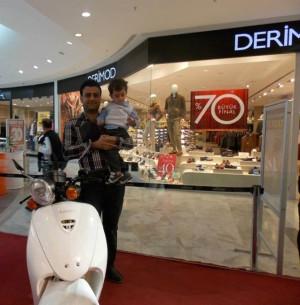 Prıme Mall Antakya'da Motosiklet Şansı Devam Ediyor