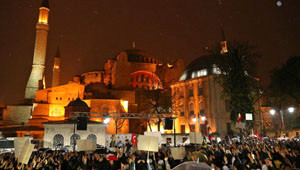 Ayasofya Meydanı'nda Mısır Protestosu