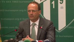 Bursaspor Teknik Direktörü Buz -
