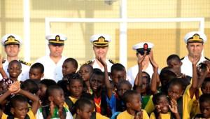 Barbaros Türk Deniz Görev Grubu Angola'yı Ziyaret Etti