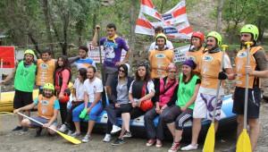 Erzurum'da Start Alan Türkiye Rafting Şampiyonası Renkli Görüntüler Oluşturdu