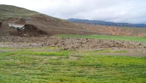 Kağızman'da Baraj Kanalı Patladı