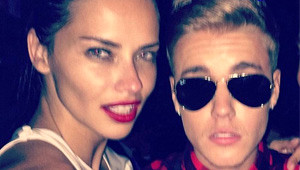 Adriana Lima ile Justin Bieber Sabaha Kadar Eğlendi