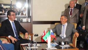 Tataristan Cumhurbaşkanı ve Bakan Zeybekçi Mersin'de