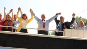 Başkan Çerçioğlu ve CHP'li Balbay'dan Buharkent Çıkartması