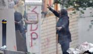 Okmeydanı'nda Yaşlı Kadından Eylemcilere Sert Tepki
