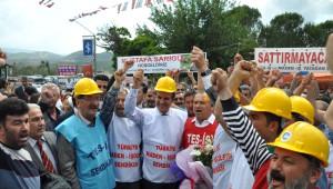 Sarıgül, Maden İşçilerini Ziyaret Etti
