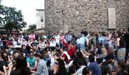 Galata Kulesi Önünde Eylem