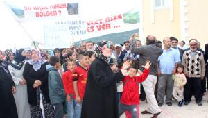 Reşadiye'de Kavgalı Taş Ocağı Protestosu