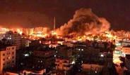İsrail Uçakları Gazze'de 34 Noktayı Vurdu