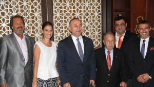 Bakan Çavuşoğlu, Taba-Amcham Başkanı Zeynep Dereli'yi Kabul Etti