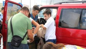 Ezine'de Trafik Kazası; 2 Yaralı