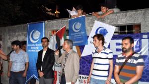 Eyüp Sultan Camii Önünde İsrail Protestosu