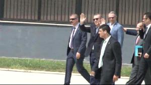 Erdoğan Uğurlanırken Kaza