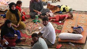 İnşaat Alanları Iraklı Sığınmacıların Evi Oldu