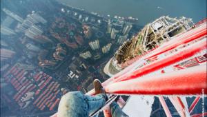 Çılgın Ivan, Şangay Kulesi'nin Donmuş Vincine Tırmandı