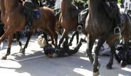 Atlı Polisler Göstericileri Ezdi