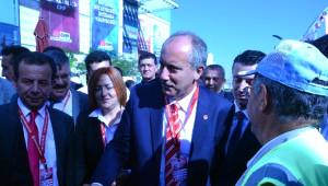 CHP Genel Başkanlığına Adaylığını Açıklayan İnce, Kurultaya Yürüyerek Geldi