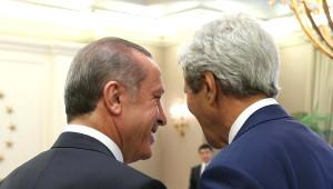 ABD Dışişleri Bakanı Kerry Çankaya Köşkü'nde