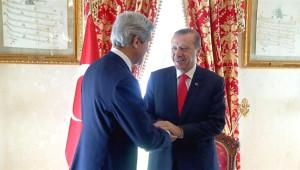 Cumhurbaşkanı Erdoğan, ABD Dışişleri Bakanı Kerry'i Kabul Etti