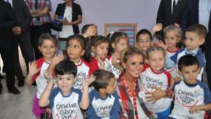 Gülben Ergen, 23'üncü Anaokulu Soma'da Açtı