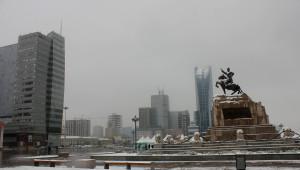 Başkent Ulanbator Beyaza Büründü