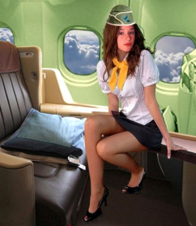 Юбках фото мини стюардесс в