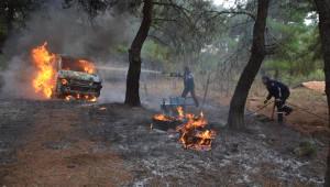 Yangına Müdahale Ederken Arıların Saldırısına Uğradı