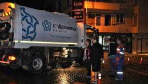 Süleymanpaşa'da Cadde Temizlikleri Devam Ediyor