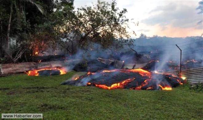 Hawaii'de Lavlar Yerleşim Bölgesine Kadar Ulaştı