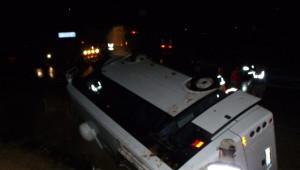 Kahramanmaraş'ta Servis Aracı Devrildi: 22 Yaralı