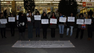 Yalvaç'da Ölen Kadın İşçiler İçin Protesto Eylemi