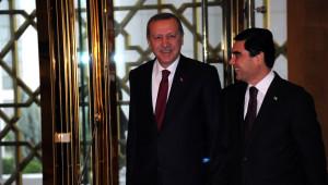 Berdimuhamedov, Erdoğan'ı Resmi Törenle Karşılandı