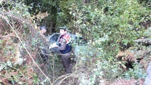 Uçuruma Yuvarlanan Otomobil Sürücüsü Öldü