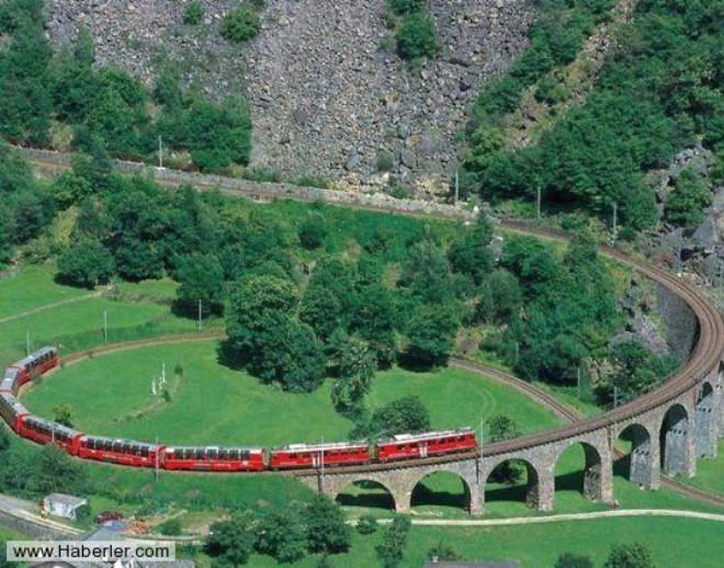 İsviçre'de Nefes Kesen Tren Yolculuğu