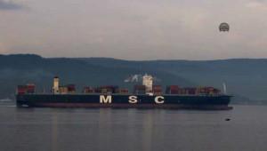 Dev Konteyner Gemisi Çanakkale Boğazından Geçti