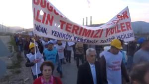 Özelleştirme Karşıtı İşçiler Yatağan'da Yürüdü