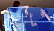 Bradd Pitt ve Angelina Jolie'den Balkon Kavgası