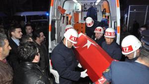 Şanlıurfa'daşehit Olan Erin Cenazesi Askeri Uçakla Kütahaya'ya Getirildi