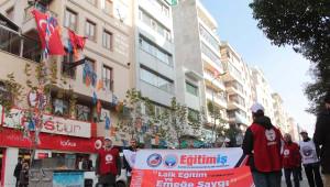 Eğitim- İş'in Eğitim ve Emeğe Saygı Yürüyüşü Manisa'ya Ulaştı