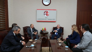 Litvanya Büyükelçisi Kudzmanas'dan Vali Tuna'ya Ziyaret
