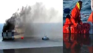 Akdeniz'de Yolcu Gemisinde Yangın