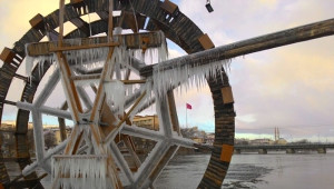 Avanos'ta Doğanın Kış Sanatı