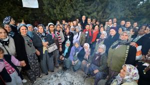 CHP'li Başkanlardan Taş Ocağına Direnen Akalanlılara Destek