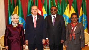 Cumhurbaşkanı Erdoğan Etiyopya'da Askeri Törenle Karşılandı