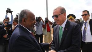 Cumhurbaşkanı Erdoğan, Cibuti Cumhurbaşkanlığı Sarayı'nda