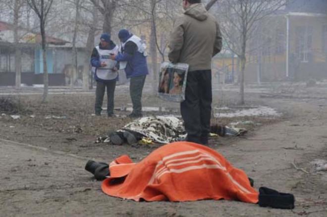 Ukrayna'da Kanlı Saldırı