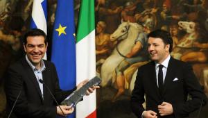 İtalya Başbakanı Renzi, Çipras'a Kravat Hediye Etti