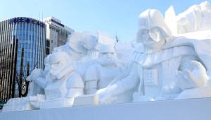 Japonlar, Kardan Devasa Star Wars Heykeli Yaptı