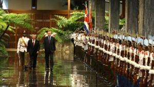Cumhurbaşkanı Recep Tayyip Erdoğan, Küba'da Resmi Törenle Karşılandı